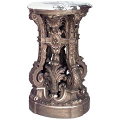 French Louis XV Style '19th Century' Gilt Carved and Filigree Pedestal
