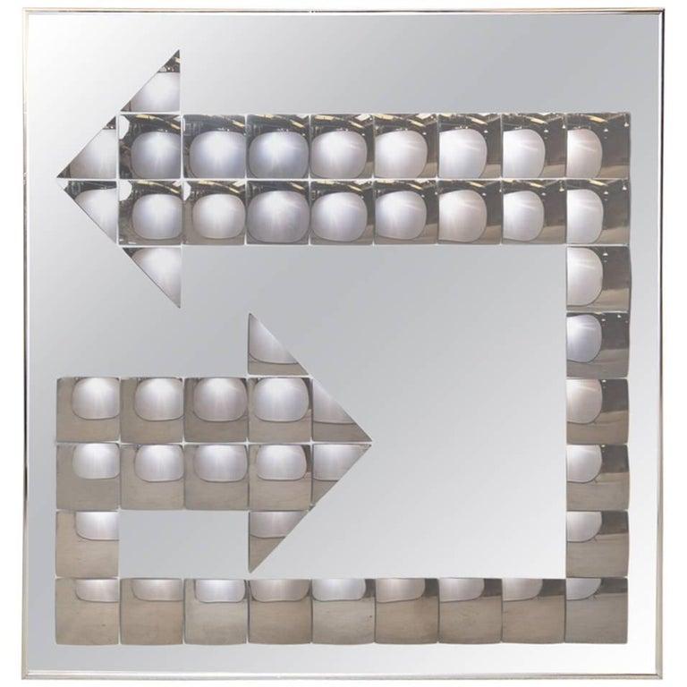 Large Midcentury Pop Art Bubble Arrow Mirror by Turner