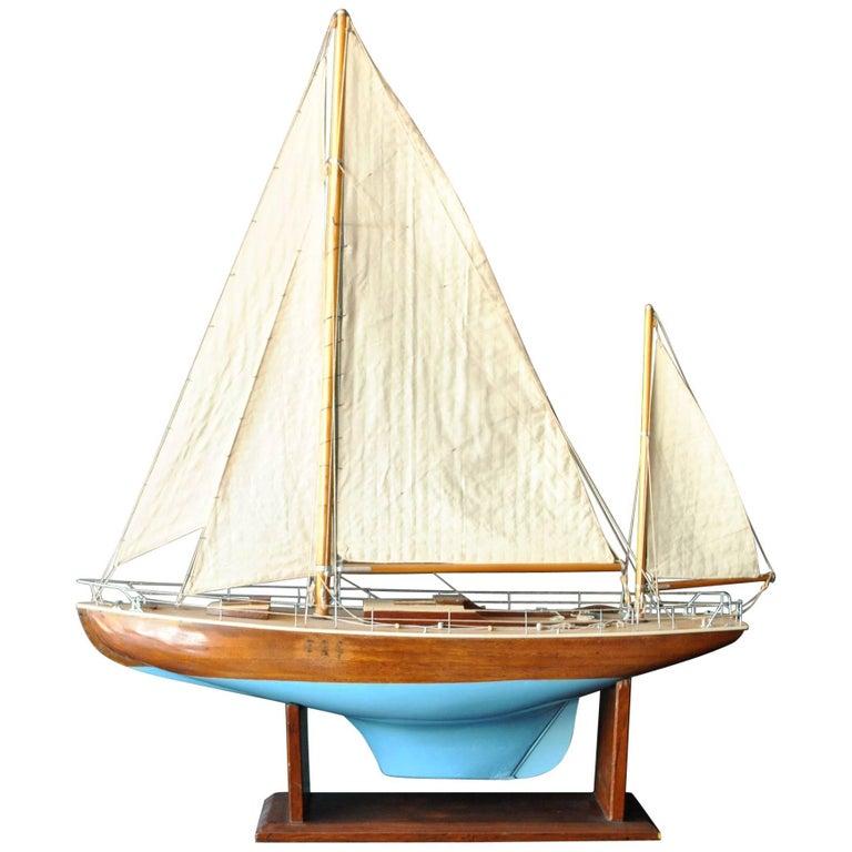 Scandinavian Scratch Built Model Boat, with Glass Case