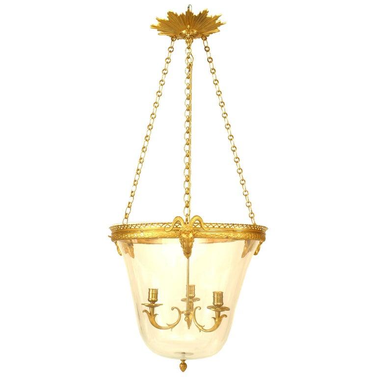 French Louis XVI Style Ormolu Lantern