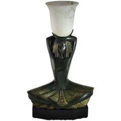 Art Deco Bronze Lamp by Sybille May