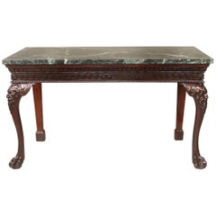 Interesting Late 19th Century Carved Wood English Console