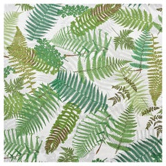 Schumacher Clements Ribeiro Fernarium Ivory & Leaf Green Wallpaper, 8-Yard Roll