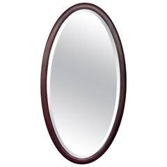 Early 20th Century American Mahogany Oval Mirror