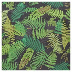 Schumacher Clements Ribeiro Fernarium Black & Leaf Green Wallpaper, 8-Yard Roll