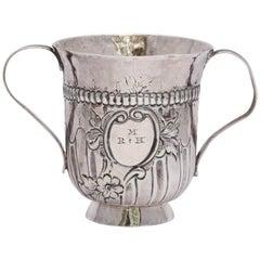 Georgian 'George III - 1768' Sterling Silver Two-Handled Pedestal Based Cup
