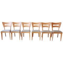 "Heywood Wakefield Mid-Century Modern ""Dogbone"" Dining Chairs, Set of Six"