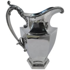 American Art Deco Sterling Silver Water Pitcher