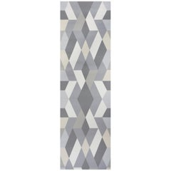 Schumacher Clements Ribeiro Deco Diamonds Geometric Dove Wallpaper Panel Set