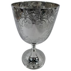 Pretty Antique English Sterling Silver Goblet