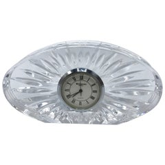 1980s Waterford Crystal Desk Clock