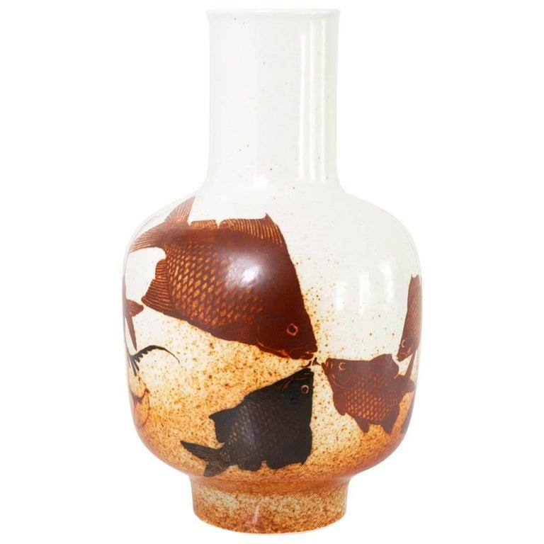 Scandinavian Modern Porcelain Vase by Nils Thorsson for Royal Copenhagen