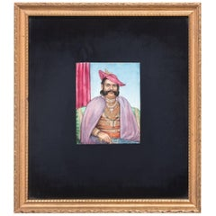 19th Century Miniature Indian Portrait of a Gentleman