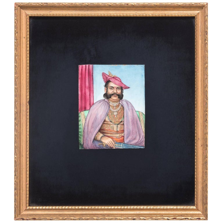 19th Century Miniature Indian Portrait of a Gentleman