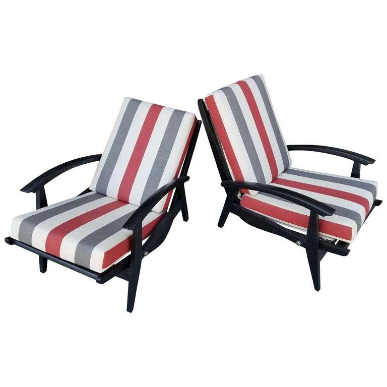 Italian Lounge Chairs for the Sorrento Hotel in Capri For Sale