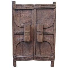Tribal Art, Granary Wooden Door of the Naga Culture