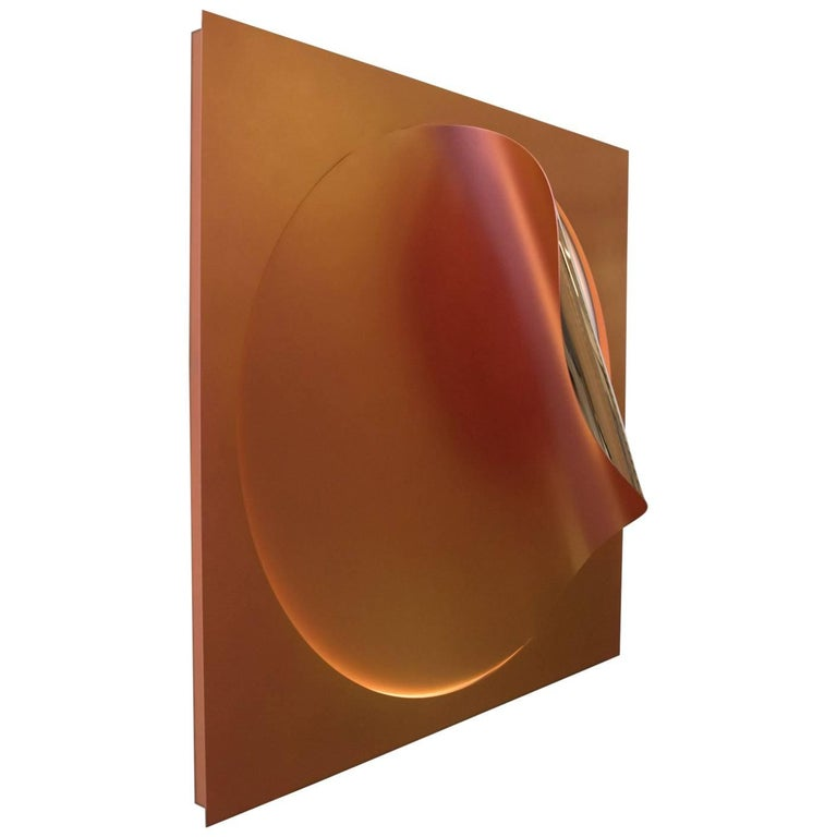 Oracle Sconce by Christopher Stuart & Julia Dault in Mirror Polished Bronze For Sale