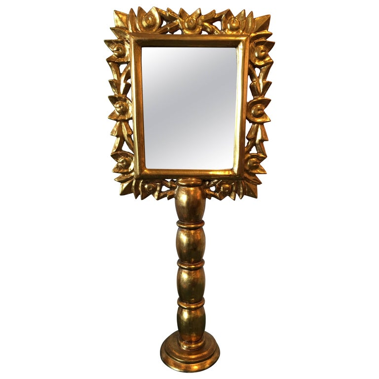Pair of Vintage Gold Framed Table Mirrors