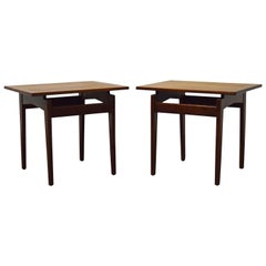 Pair of Jens Risom Walnut Side Tables
