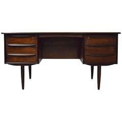 Brazilian Rosewood Danish Desk by Falster