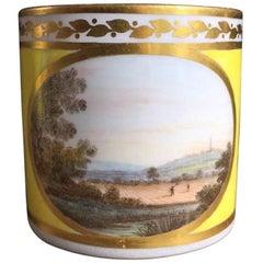 """Derby Coffee Can by 'Jockey' Hill, """"Near Chaddesden, Derbyshire"""", circa 1795"""