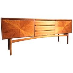 A H McIntosh Sunburst Sideboard Credenza Solid Teak Midcentury 1960s Very Rare