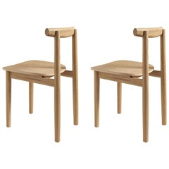 Set of Two Lola Natural Dining Chairs