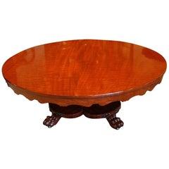 Victorian Circular Mahogany Coffee Table