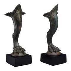 Ancient Roman Bronze Griffin Feet - 100 AD
