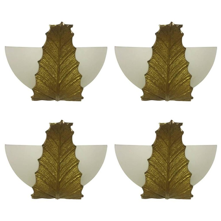 Very Rare and Exclusive Set of Four Shatanis Wall Scones by Maison Charles