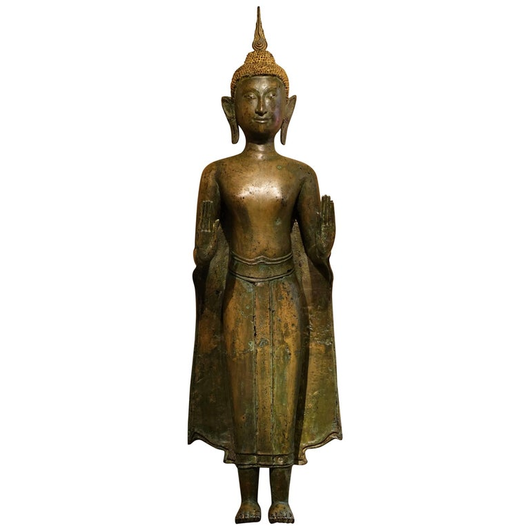 Ayutthaya Style Standing Bronze Figure of Buddha, Mid-17th Century, Thailand For Sale