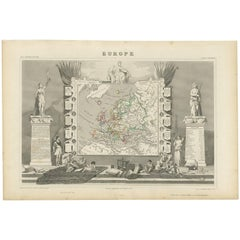 Antique Map of Europe by V. Levasseu