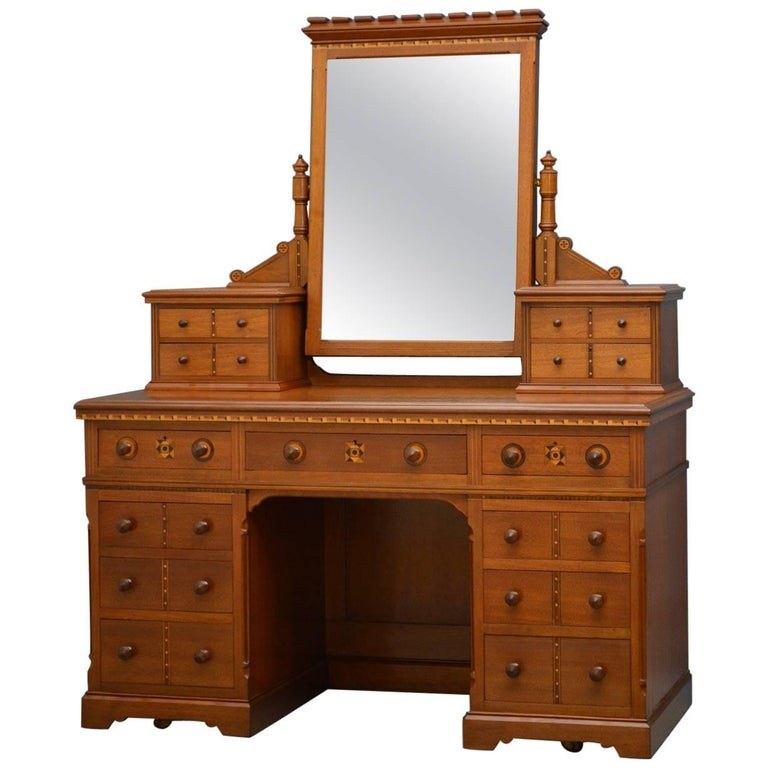 Aesthetic Movement Solid Walnut Dressing Table