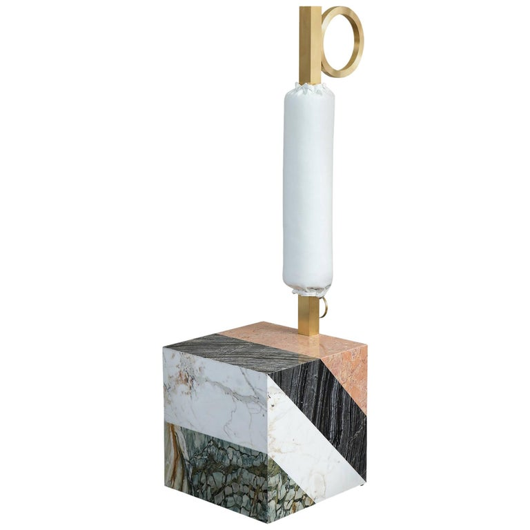 HW10 Valet in Marble, Brass and Leather by Home Studios and Natasha Royt For Sale