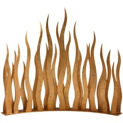 Flames Firewall in Oro Nero Metal Antique