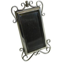 Small English Victorian Sterling Silver Photograph Frame, 1897