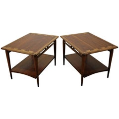 Pair of Mid-Century Modern Andre Bus Lane Acclaim End Tables