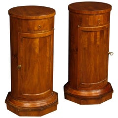 Pair of Italian Bedside Tables in Cherry and Fruit Wood from 20th Century