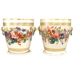 Pair of French Victorian White Porcelain Cachepots