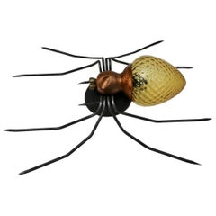 Mid-Century Modern Spider Wall Lamp 1950s Italy