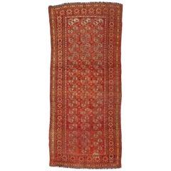Antique Afghan Ersari Gallery Rug with Tribal Style, Wide Hallway Runner