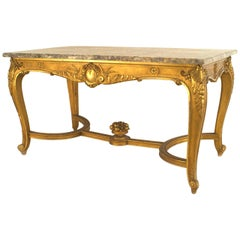 French Regence Style '19th Century' Gilt Rectangular Centre Table