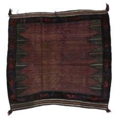 Antique Baluch Bagface, Saddlebag, Afghan Rug, Textile Art or Tribal Accent Rug