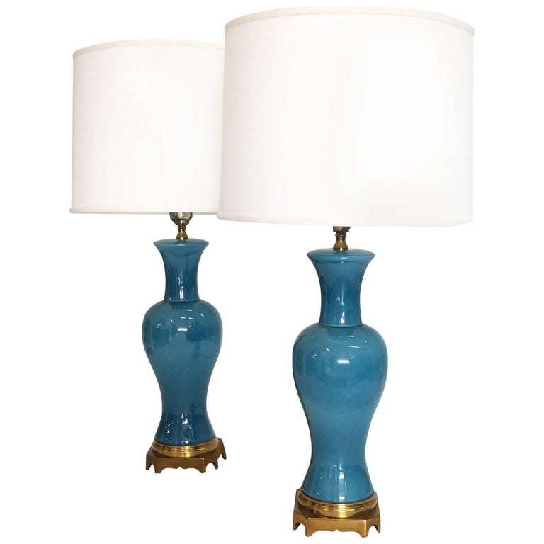 Pair of Midcentury Asian Style Table Lamps