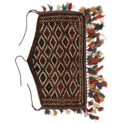 Antique Afghan Camel Trapping, Yomut Turkmen Wall Hanging, Tribal Textile