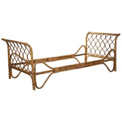 Italian 1960s Wicker Daybed