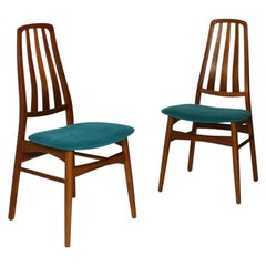 Mid-Century Modern Danish Dining Chairs by Vamdrup Set of Two