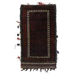 Antique Afghan Baluch Balisht Bag, Nomadic Wall Hanging, Tribal Style Tapestry