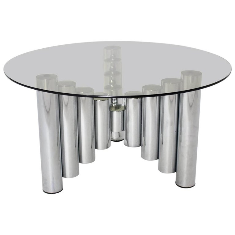 Chromed Tube Coffee Table Manhattan, 1960s