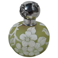 Shiebler Aesthetic Japonesque Sterling Silver and Cameo Glass Perfume